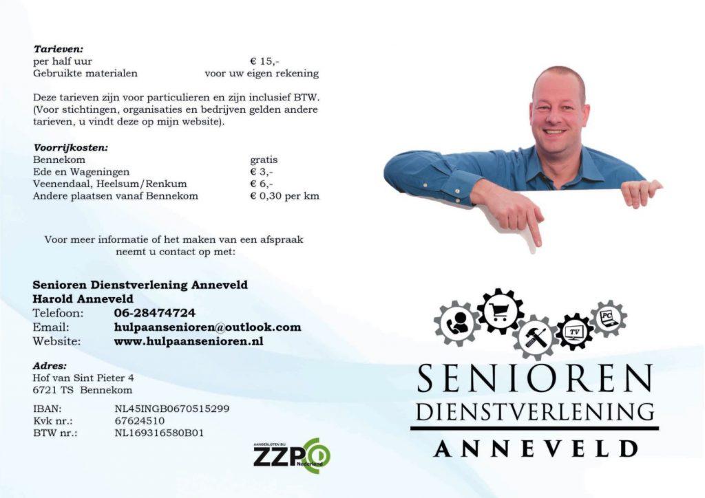 Infofolder Senioren Dienstverlening Anneveld